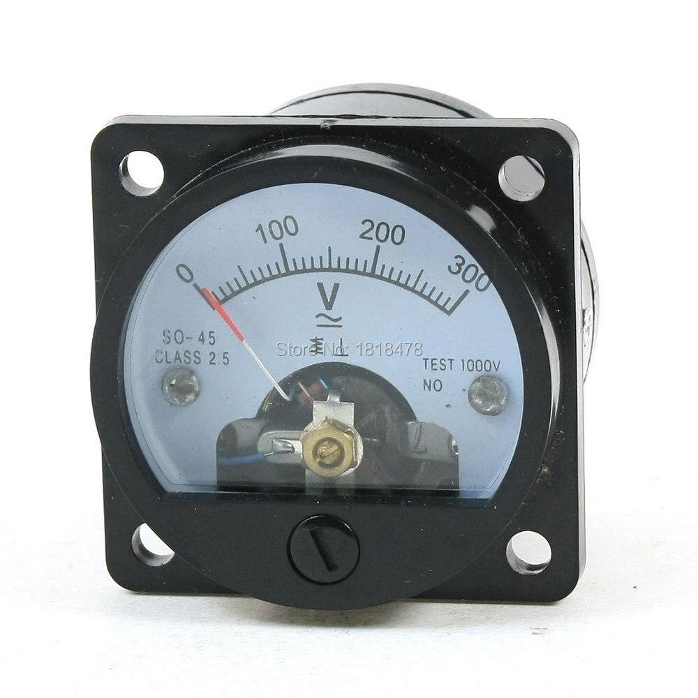 Пластиковый SO45 AC 0-300V Диапазон Аналоговый вольтметр измеритель величины напряжения панельный измеритель