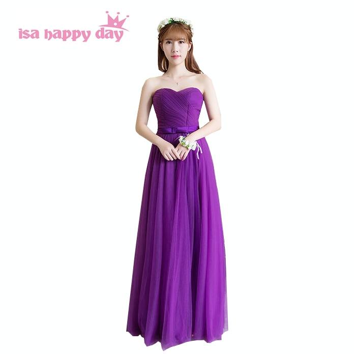 Vistoso Profundas Vestidos De Las Damas De Color Púrpura Regalo ...