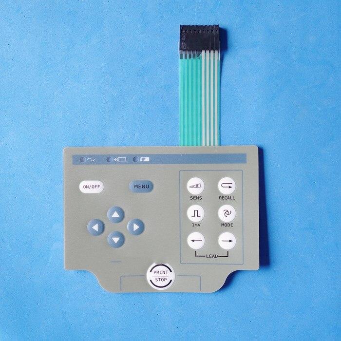 Pour Comen CM300 CM100 ECG Machine bouton panneau bouton de commutation Film 1PSC