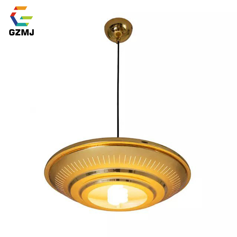 GZMJ Metal UFO Pendant Lights Gold/Silver Modern Plated Hanging Lamp Decoration Lights E27 Hanglamp For Living Room BedroomGZMJ Metal UFO Pendant Lights Gold/Silver Modern Plated Hanging Lamp Decoration Lights E27 Hanglamp For Living Room Bedroom