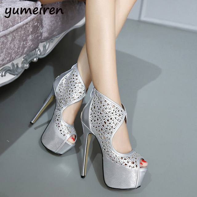 ... 4f5df def58 extreme high heels party shoes for women heels silver pumps  sexy shoes high heels ... 5288cf704