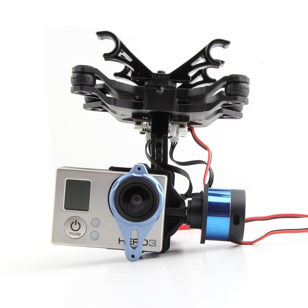 Tarot 2 axes BGC TL68A00 T-2D de cardan sans brosse pour Gopro Hero3 support de caméra DJI Phantom FPV