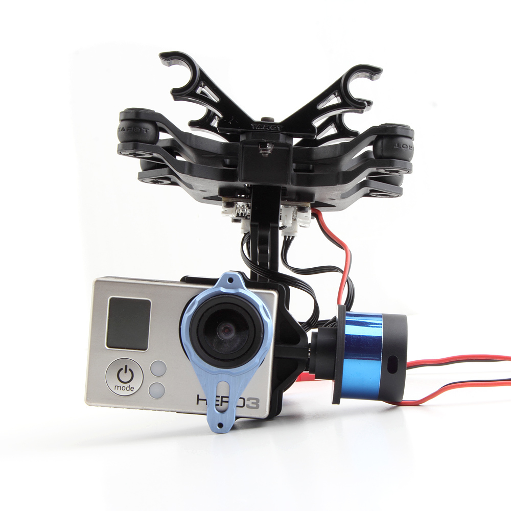 Tarot 2 Axis BGC TL68A00 Brushless Gimbal T-2D for Gopro Hero3 Camera Mount DJI Phantom FPV f09990 tarot t 2d 2 axle brushless gimbal camera ptz mount fpv rack tl68a08 for gopro hero3 diy fpv rc multicopter drone