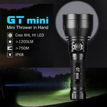 Lumintop GT mini Long Rang Flashlight 17W 4.5A CREE XHL NW/CW max 1200 lumen beam distance 750 meter 135,000cd outdoor torch super torch search flash light imalent dx80 8 creexhp70 max 32000 lumen beam built in most powerful flashlight 806 meter