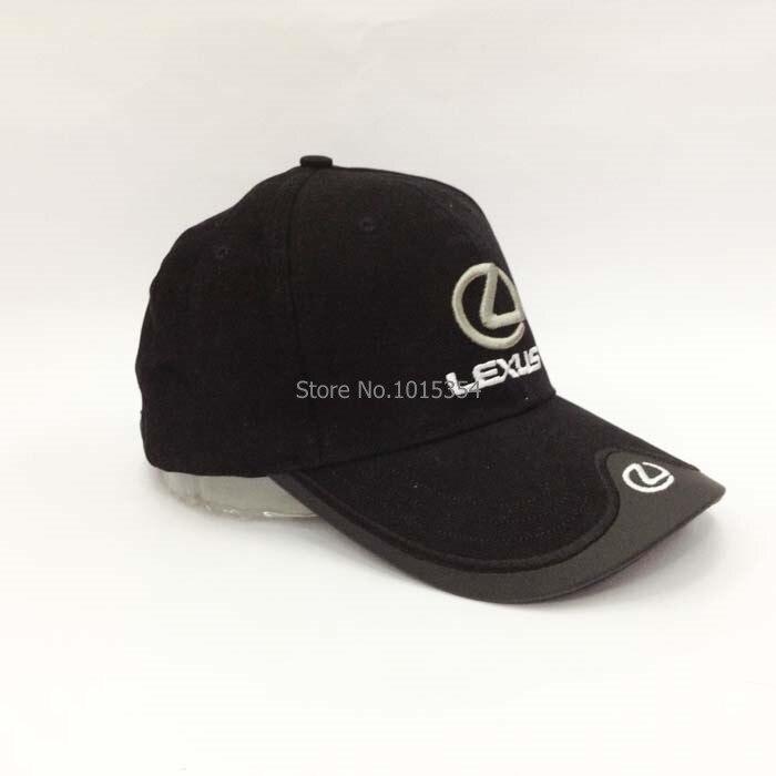 Prix pour 4 Couleurs Noir Bleu Rouge Blanc Coiffures Pour LEXUS De Voiture cap Profession gros Baseball F1 Racing Cup Loisirs Hat Logo Chapeau