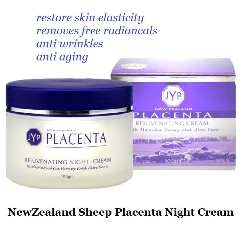 Nouvelle zélande Moutons Placenta Rajeunissement Crème de Nuit Cosmétiques Réduire les rides Du Visage Anti-vieillissement crème pour le visage Rajeunissement Crème de Nuit
