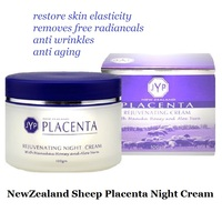 JYP PLACENTA Rejuvenating Night Cream Cosmetics Night Use Nightly Repair Wrinkle Reducer Genuine Original New Zealand