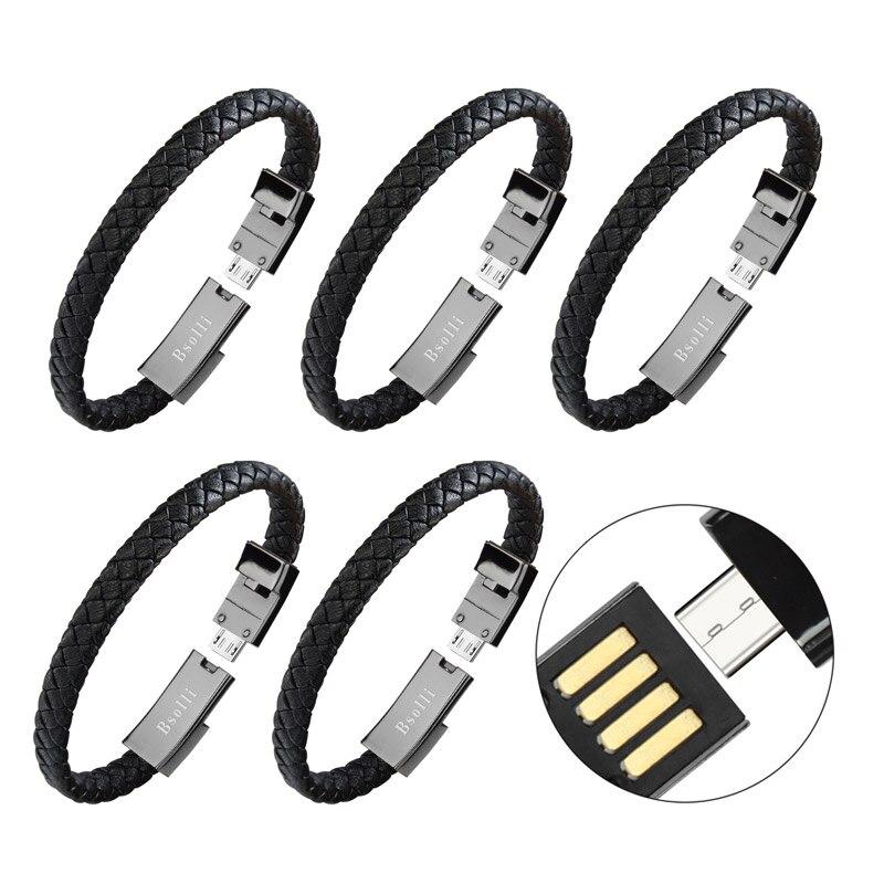 5 pièces sport bracelet usb chargeur câble pour téléphone données ligne adaptateur rapide charge rapide iphone X 7 8 plus samsung S8 fil portable