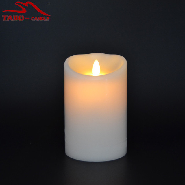paraffin wax battery operated luminara candle in 5 inch christmas decoration real wax realistic moing wick - Christmas Decorations Battery Operated Candles