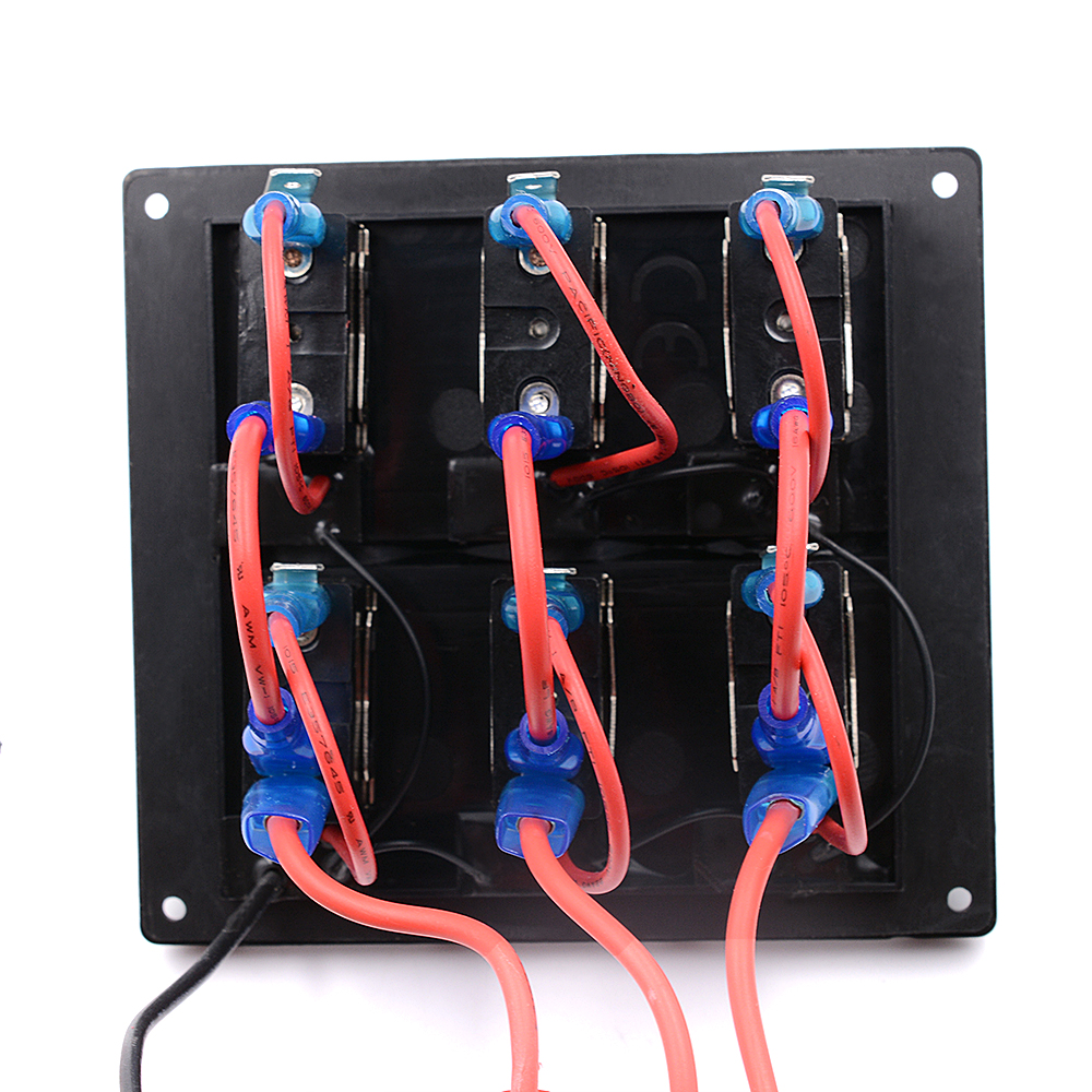 automotive 12v 24v waterproof 6 gang toggle switch panel fuse box [ 1000 x 1000 Pixel ]