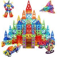 גודל גדול 169 יחידות דגמי בנייה מגנטי צעצועי DIY 3D אבני בניין מגנטי מעצב ילדי לבנים צעצועים חינוכיים למידה
