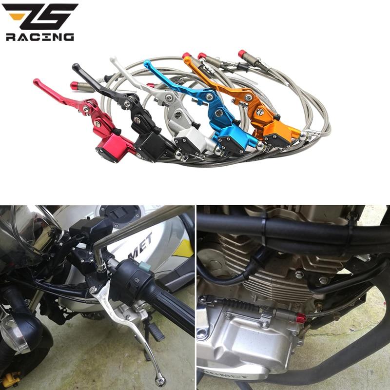 ZS гоночный гидравлический клатч 1200 мм рычаг главный цилиндр For125-250cc вертикальный двигатель внедорожный мотоцикл яма Байк для мотокросса