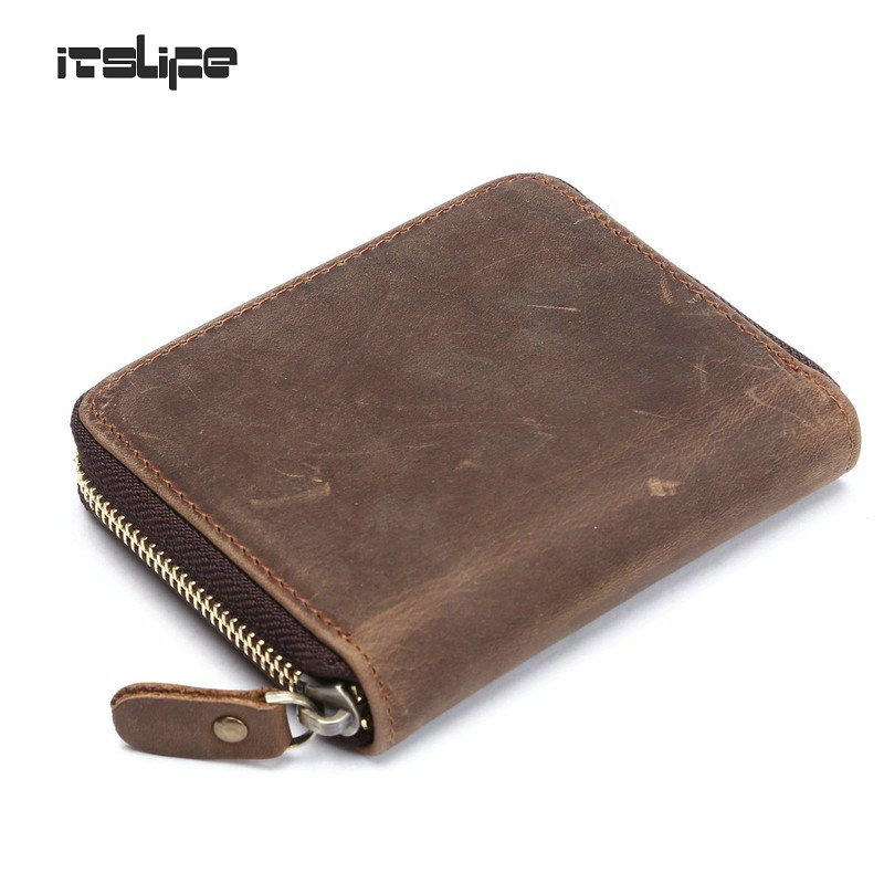 top quality cow crazy horse genuine leather men wallets for men,male purse luxury,carteira masculina free shipping 2016 hot selling layer crazy horse leather male purse cow vintage wallets simple luxury men carteira masculina m1068