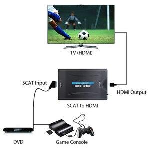 Image 5 - SCART HDMI Video ses Upscale Converter 1080P SCART girişi HDMI çıkış adaptörü gökyüzü Blu Ray oynatıcı HDTV DVD