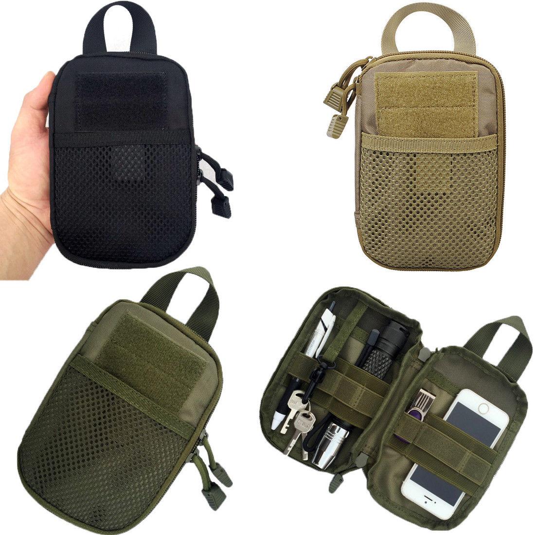 Portable Unisex Outdoor Waterproof Tactical Waist Belt Pack Phone Case Pouch Bag