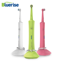 Rotating Electric Toothbrush Anti Slip Water Proof 2 Tooth Brush Heads Rechargeable Holder Adult Kids Oral Hygiene Teeth Care