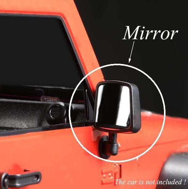 Free Shipping 1 Pair 1/10 RC Crawler Car Traxxas TRX-4/Wrangler Jeep Mirror Model Spare Part