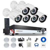 6CH HD 1080 P 2MP P2P POE NVR CCTV Системы IP Камера безопасности Домашнее аудио запись видео наблюдения комплекты Открытый свет ipCam
