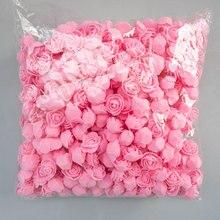 Rosas de espuma 500 Uds. 3,5 cm, cabezas de flores artificiales de espuma DIY 20cm, molde de oso de peluche PE, accesorios de oso rosa, decoración de regalo de San Valentín