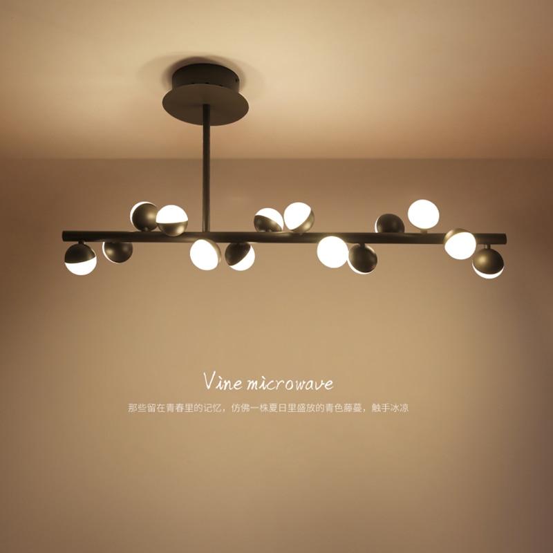 цена на Post-modern LED chandelier ceiling nordic deco fixtures novelty lighting living room suspended lamps restaurant hanging lights