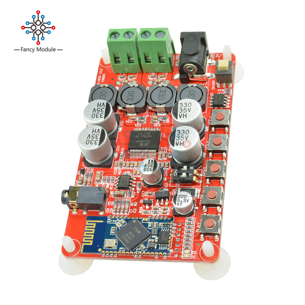 TDA7492P 50W+50W Digital Amplifier Board CSP8635 Bluetooth 4.0 Chip BT Audio Receiver Amplifier Board Module Parts цена