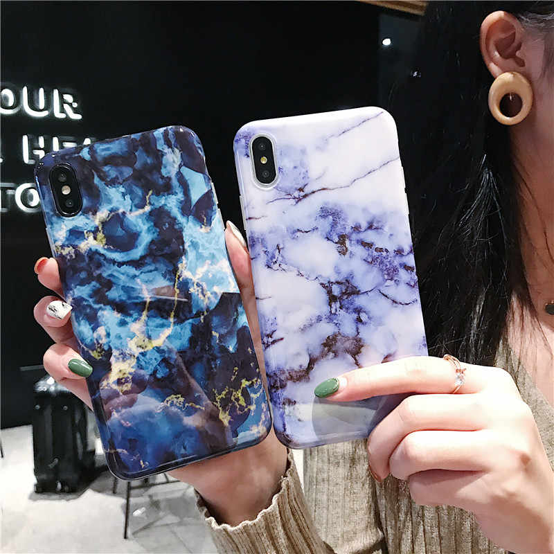 Marmer Telefoon Case Voor iphone 7 Case Luxe Soft Silicon Cover Voor iphone 6 6 s 7 8 Plus X iphone XR XS Max Case Fundas Capa