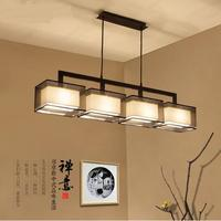 new Chinese restaurant bedroom pendant lights modern minimalist rectangular lighting hotel study pednant lamp ZZP TA10197