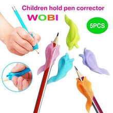 5Pcs/Lot High Quality Silicone Dolphin Fish Style Children Pencil Students Hold Pen Writing Drawing Posture Correction Best Gift