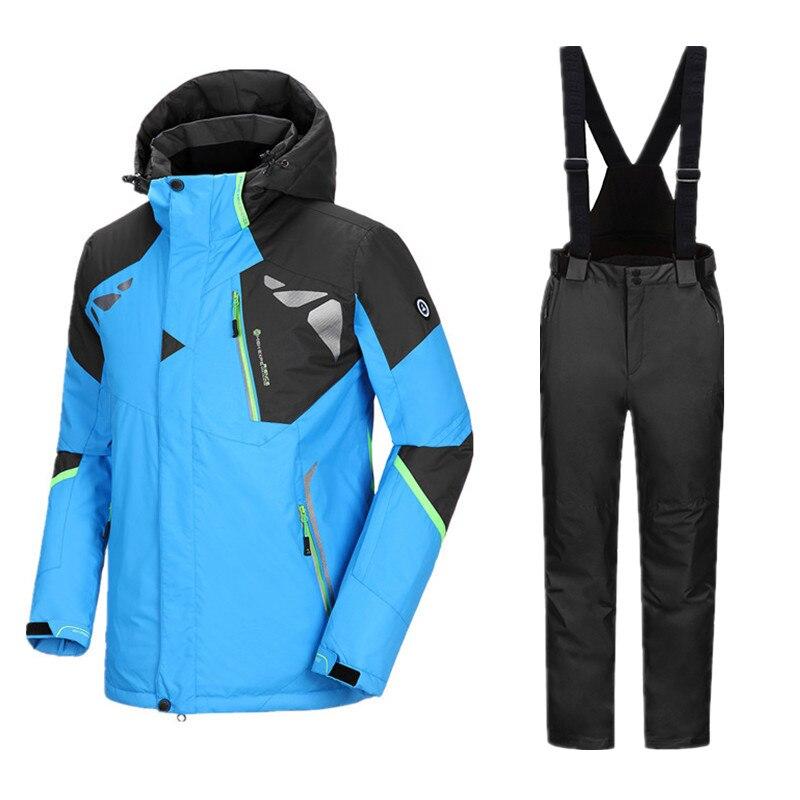 Image 2 - Thicken Winter Suit Ski Suit Men Ski Jacket Snowboard Suit Men Snowboarding Suits Snowboarding Set Male Winter Ski Suit SnowsuitSkiing Jackets   -