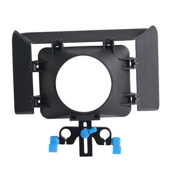 Lightweight 15 mmm Rail Rod Base Plate DSLR Rig Matte Box For Cameras and Camcoders