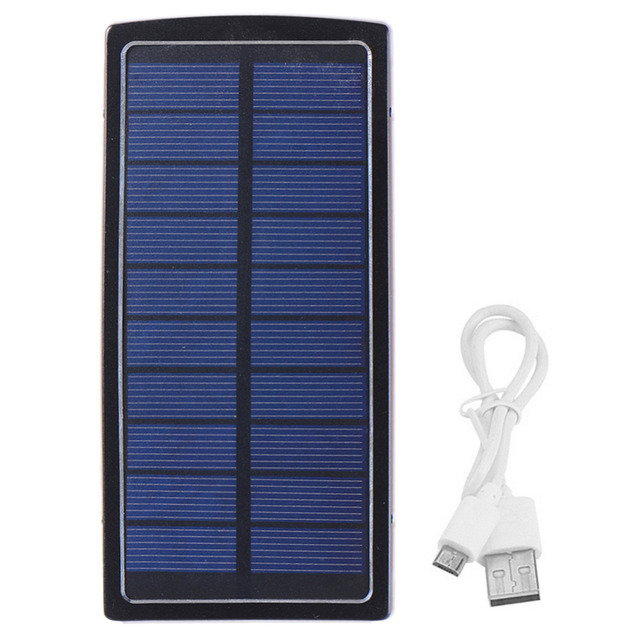 Battery Solar Charger Metal Shell Backup Battery Camping 28 LED lampPower Bank 10000MahPowerbank For iPhone Android Smart Phone