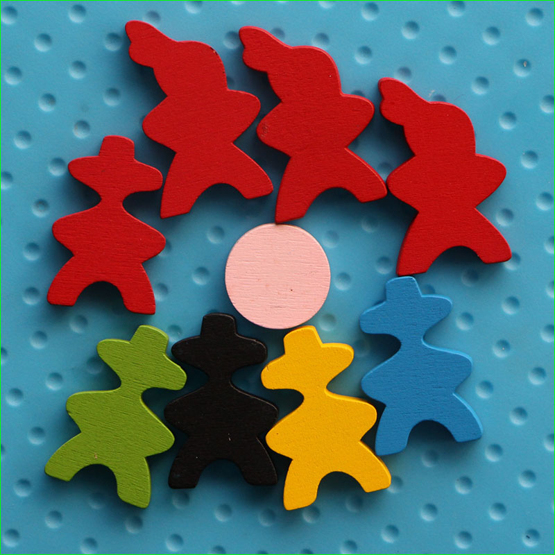 9 Pieces Wooden Game Pieces DIY Pawns Board Game Carcassonne Educational Toys