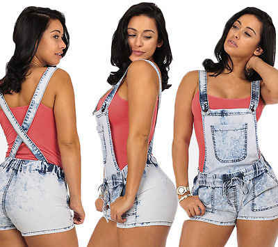 bacbd9cb61c Detail Feedback Questions about New Fashion Women Denim Jumpsuit Romper  Shorts Casual Overall Jeans Pants Shorts on Aliexpress.com