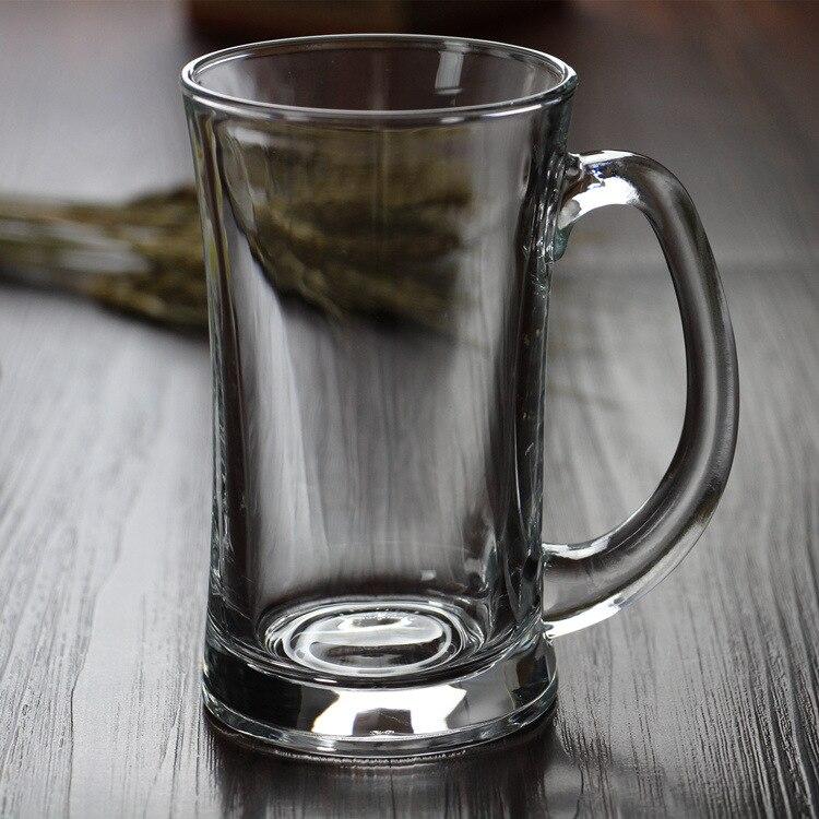 Wholesale glass water glass large capacity beer cup Lizun waist beer cup heat resistant belt glass teacup Кубок