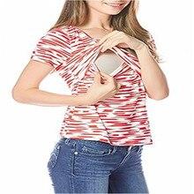 Плюс Размеры кормящих Костюмы для беременных лоскутные футболки для кормления топы для кормления грудью и летние футболки Корсетная футболка одежда для беременных