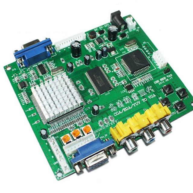 Nuevo juego Arcade RGB CGA EGA YUV a VGA HD video convertidor HD9800 GBS8200/tablero convertidor de vídeo