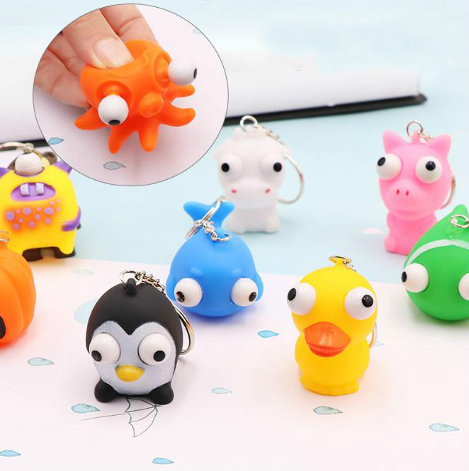Kawaii  Cute Anti Stress Squeeze Toys Pinch Toy Mochi Funny Squishy Novelty Toy Autism Mood Squeeze Relief Key Chains
