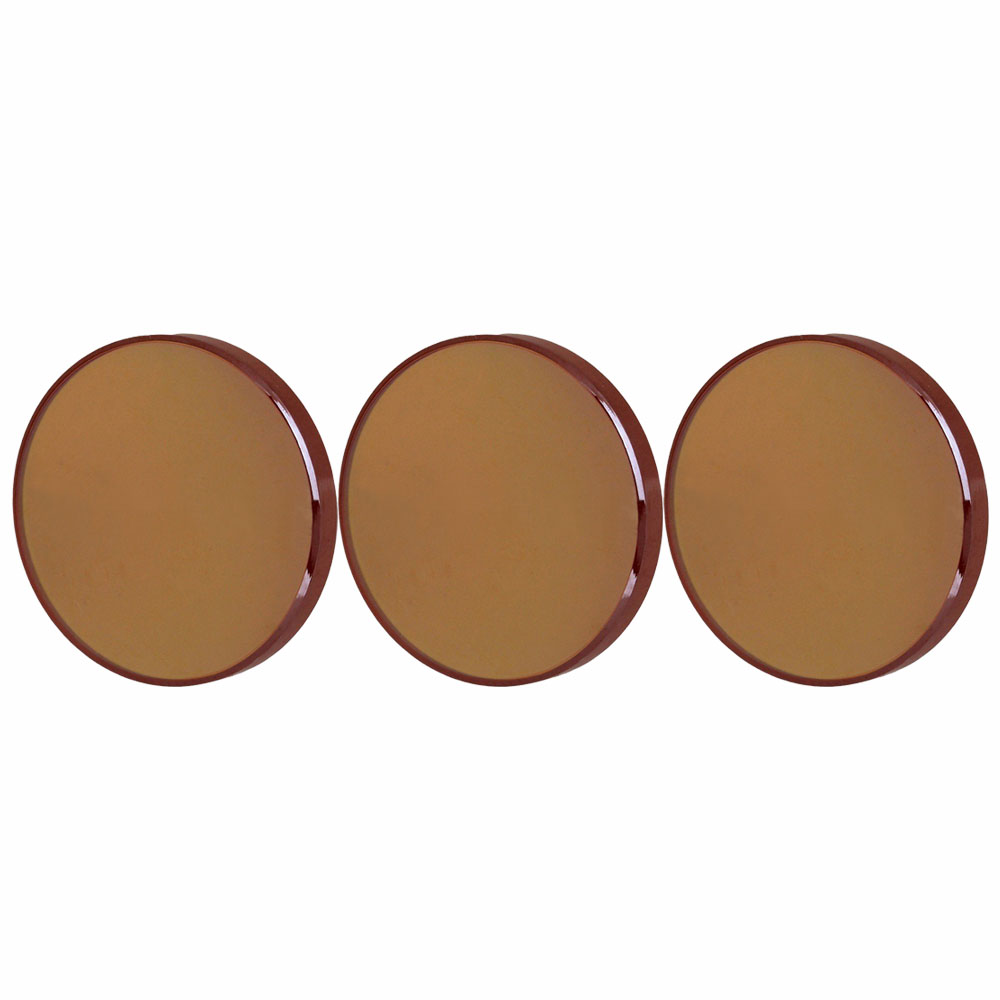 ZnSe Focal Lens for CO2 Laser Engraver Cutting Dia 19mm FL 1 Brown with Case 25.4MM, pack of 3