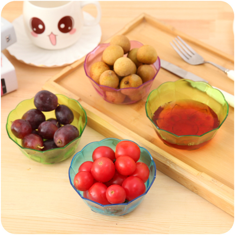Creative 1pcs Plastic Bowl Practical Durable Colorful