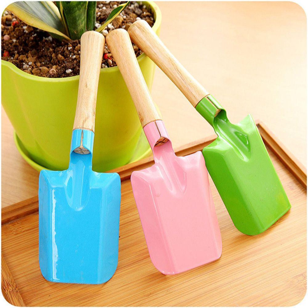 Wood Handle Green Plants Flowers Potting Mini Shovel Multifunctional Household Spade Durable Garden Tools