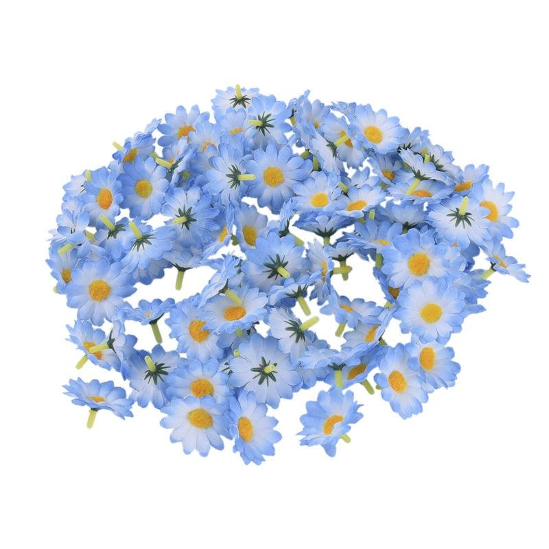 100 Unids / lote Seda Crisantemo Handmake Cabeza de Flor Artificial - Para fiestas y celebraciones - foto 6