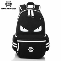 Japanese Anime One Piece Printing Bakcpack For Teens High Quality Canvas Fashion Student School Bags Brand