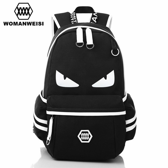 2018 Japanese Anime One Piece Printing Backpack For Teens Baymax Cat Canvas  Fashion Student School Bag Brand Female Male Bagpack 831ccc7fb4611