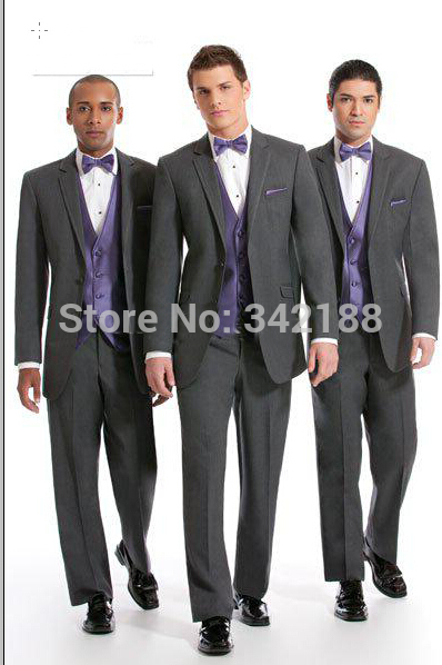 FREE EMS Custom Made NEW Groom Tuxedos Wedding Groomsman Suit Groomsman Bridegroom Suits (Jacket+Pants+Tie+Vest)Boy Suit Fashion
