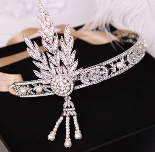 ФОТО 5pcs/lot! The new fashion Gatsby luxury High-end Shining crystal headbands, crown wedding hair accessories! Free shipping!