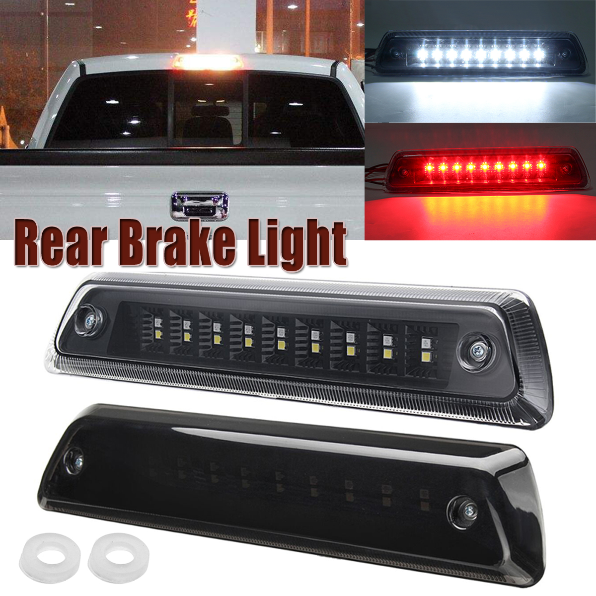 1x Pickup Truck LED Third Rear Tail Light 3rd Brake Lamp for Ford F150 2009 2010 2011 2012 2013 2014 Car Light Accessories 2 5w 32 led third brake tail light for vehicles