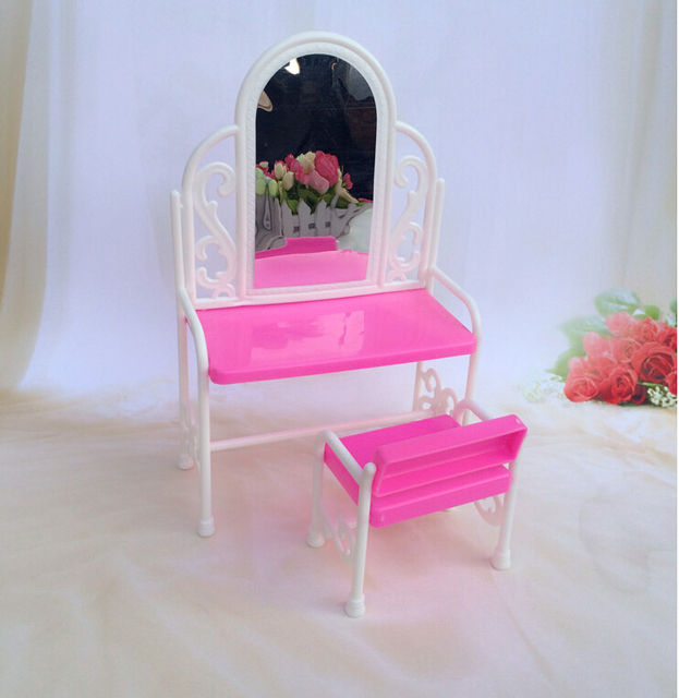 Charming One Set Princess Doll Fashion Furniture Funny Toys For Baby Play House Toys  Dresser Dressing Table