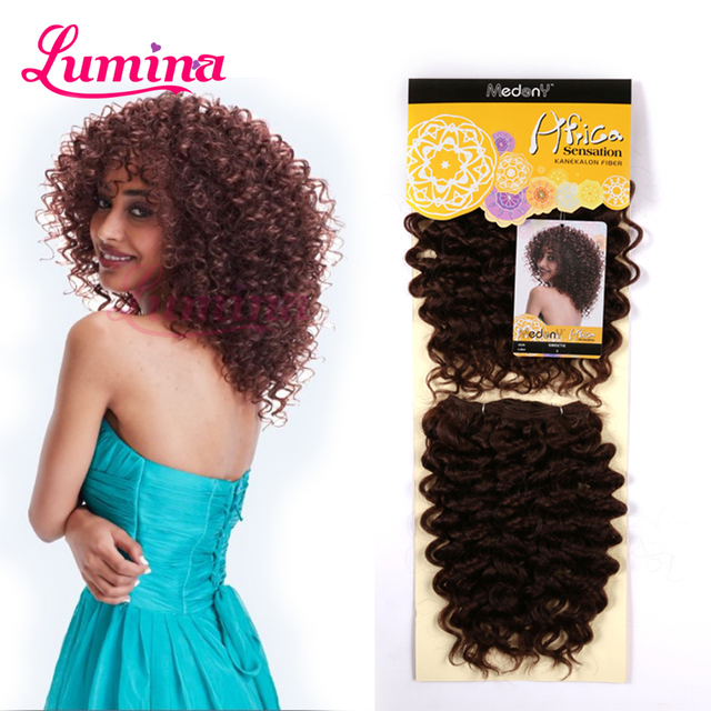 Kinky Curly Hair Extensions Blended Synthetic Kinky Curly Weave Hair