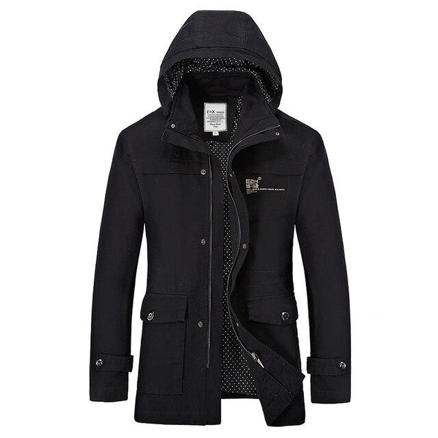 2016 New Cotton Solid Color Jacket Men Fine Quality Hooded Veste Capuche Outwear