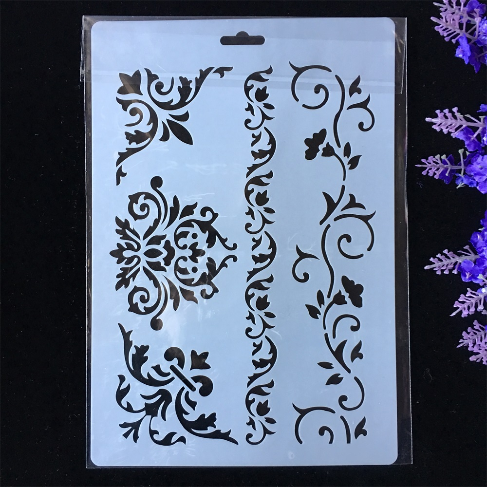 New Flower Frame Edge DIY Layering Stencils Painting Scrapbook Coloring Embossing Album Decorative Paper Card Template